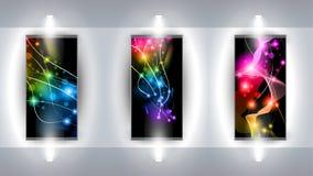 konstnärligt praktiskt bakgrundsgalleri för 3 konst vektor illustrationer