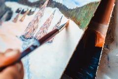 Konstnärmålarfärgerna med olja fotografering för bildbyråer