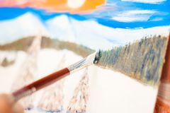 Konstnärmålarfärgerna med olja arkivbilder