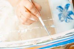 Konstnärmålarfärgerna med olja arkivfoto