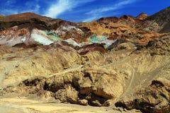 Konstnärpalett i den Death Valley nationalparken, Kalifornien Fotografering för Bildbyråer