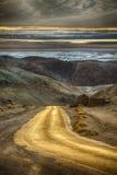 Konstnärpalettdrev i Death Valley Arkivfoton