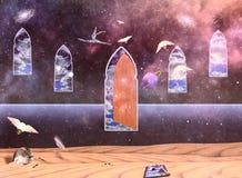 Konstnärs fantasi stock illustrationer