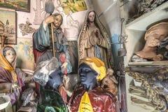 Konstnärstudio, skulpturer och statyer royaltyfria foton