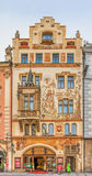 KonstNouveau byggnad i Prague Arkivfoton
