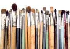 konstnären brushes s Royaltyfri Fotografi