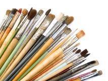 konstnären brushes s Arkivbild