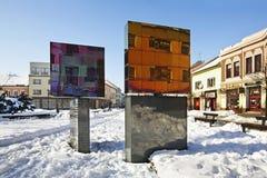Konstobjekt i Liptovsky Mikulas slovakia royaltyfria foton