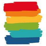 Konstobjektpalett, färgerna av regnbågen Royaltyfri Bild