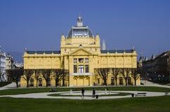 Konstpavillion i Zagreb royaltyfri fotografi