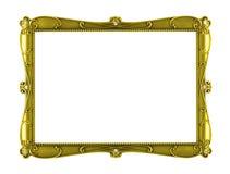 Konstram för gul metall Arkivfoto