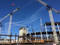 Konstruieren des neuen Hauses für das Basketball-Team Sans Francisco Golden Gate Warriors, 3 lizenzfreies stockbild