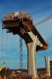 konstruktion för konkreta pelare Arkivbild