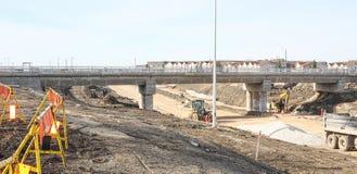 Konstruktion April 2019 för Waverley gatagångtunnel arkivbild