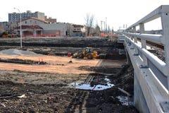 Konstruktion April 2019 f?r Waverley gatag?ngtunnel arkivbild