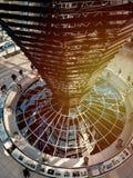Konstruktion av den moderna takfönstret för spegel i Reichstag, Berlin fotografering för bildbyråer