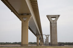 Konstruktion av den nya bron Fotografering för Bildbyråer