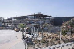 Konstruktion av den nya San Ysidro tullhamnen Fotografering för Bildbyråer