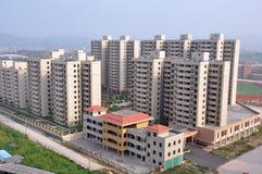 Konstruktion av den nya staden i Kina Royaltyfria Foton