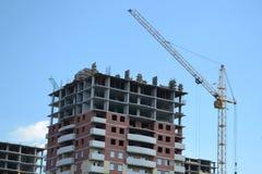 Konstruktion av det nya bostads- området Fotografering för Bildbyråer