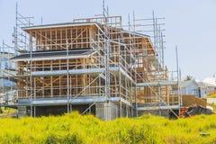 Konstruktion av det nya hemmet, Auckland, Nya Zeeland Royaltyfria Foton