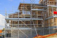 Konstruktion av det nya hemmet, Auckland, Nya Zeeland Royaltyfria Bilder