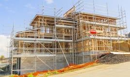 Konstruktion av det nya hemmet, Auckland, Nya Zeeland Arkivbild