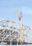Konstruktion av en fotbollsarena för världscupen 2018, Ryssland, Volgograd Arkivfoto