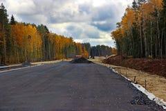 Konstruktion av en ny väg Royaltyfria Foton
