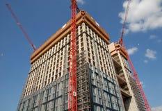 Konstruktion av en skyskrapa Arkivfoton