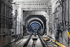 Konstruktion av gångtunnelen Arkivbild
