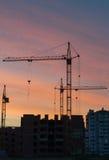 Konstruktion av höghus Fotografering för Bildbyråer