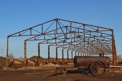 Konstruktion av hangarer Fotografering för Bildbyråer