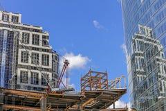 Konstruktion av kontorsbyggnaden i centret, LA, Kalifornien Royaltyfria Foton