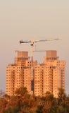 Konstruktion av lägenhethus. Royaltyfri Fotografi