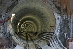 Konstruktion av metroen Fotografering för Bildbyråer
