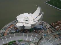 Konstruktion av moderna byggande Singapore Royaltyfria Bilder