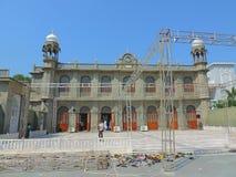 Konstruktion av moskén i Indien Arkivbild