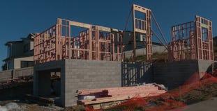 Konstruktion av ny hem- byggnad, Auckland, Nya Zeeland Arkivbilder