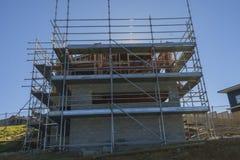 Konstruktion av ny hem- byggnad, Auckland, Nya Zeeland Royaltyfri Fotografi