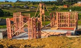 Konstruktion av ny hem- byggnad, Auckland, Nya Zeeland Arkivfoto