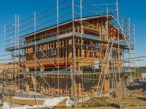 Konstruktion av ny hem- byggnad, Auckland, Nya Zeeland Royaltyfria Bilder