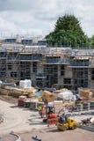 Konstruktion av nytt hus i England arkivfoton