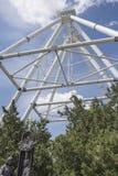 Konstruktion av pariserhjulen 65 meter i Rostov-On-Don Arkivfoto