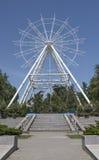 Konstruktion av pariserhjulen 65 meter i Rostov-On-Don Arkivbild