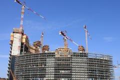 Konstruktion av skyskrapor i Milan Royaltyfria Bilder