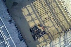 Konstruktion av stadionen Ny stadion, sportlätthet arkivfoto