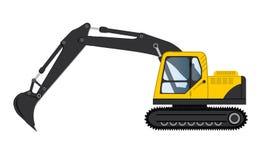 Konstruktion bearbetar med maskin grävskopabilden Arkivfoton