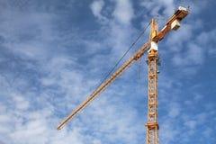 Konstruktion Crane Blue Sky Arkivfoton