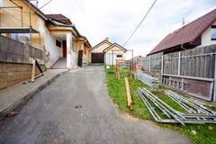 Konstruktion eller reparation av det lantliga huset Arkivfoto